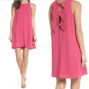 Charles Henry Nordstrom magenta bow dress XS